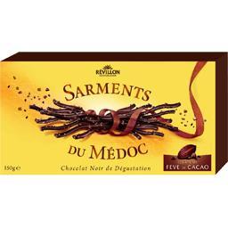 Révillon chocolatier Sarments du médoc noir intense éclats de fêve de cacao