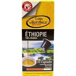 Le Bonifieur Capsules de café moulu Ethiopie les 10 capsules de 5 g