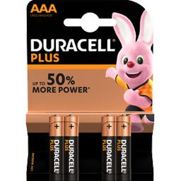 Duracell Piles Alcalines Plus Power AAA LR03-MN2400, les 4 piles