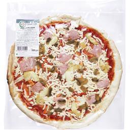 Pizza Capricciosa cuite au four et garnie à la main