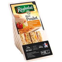 Sandwichs maxi poulet crudités sauce mayonnaise halal