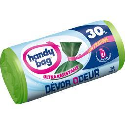 Handy Bag Sacs poubelle Dévor Odeur 30 l le paquet de 16 sacs