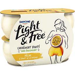 Light & Free - Yaourt pêche & fruit de la passion