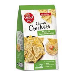 Crousti Crackers maïs et légumineuses BIO