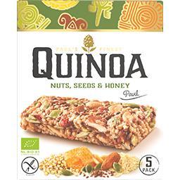 Barre quinoa noisettes graines et miel BIO