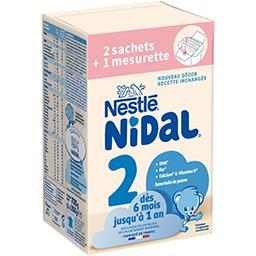 Nidal - Lait en poudre 2, de 6 mois à 1 an