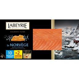 Labeyrie Saumon fumé Norvège le paquet de 10 tranches 390g