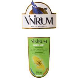 Boisson à base de vin aromatisée citron vert