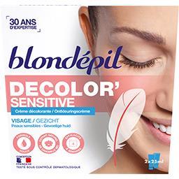 Crème décolorante Decolor' Sensitiv visage peaux sensibles