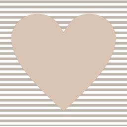 Serviettes 3 plis 33x33 cm taupe Hearty