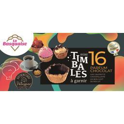 Mini timbales à garnir, parfum chocolat