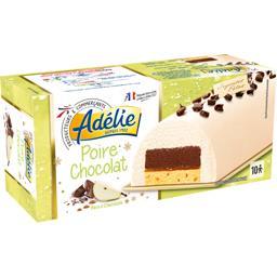 Bûche glacée poire chocolat