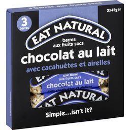 Barres chocolat lait cacahuètes et airelles