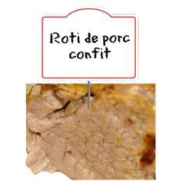 Rôti de porc confit