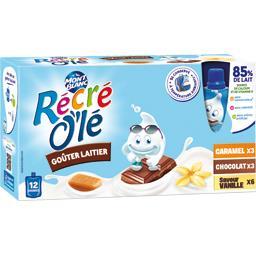 Récré O'lé - Goûter laitier caramel/chocolat/vanille