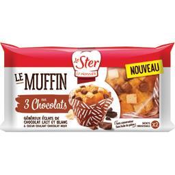 Le Muffin aux 3 chocolats