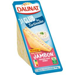 Daunat Le Club - Sandwich Les Tartinades jambon fromage her...