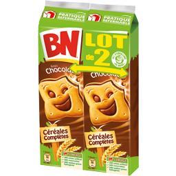 Biscuits céréales complètes goût chocolat