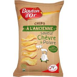 Chips à l'ancienne saveur chèvre & poivre