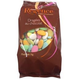 Dragées au chocolat multicolore
