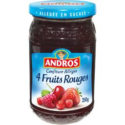 Confiture allégée 4 fruits rouges