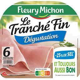 Le Tranché Fin - Jambon cuit sans couenne réduit en ...