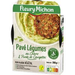 Végétal - Pavé de légumes chèvre & purée de courgett...