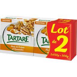 Tartare Fromage noix & éclats d'amandes les 2 boites de 150 g