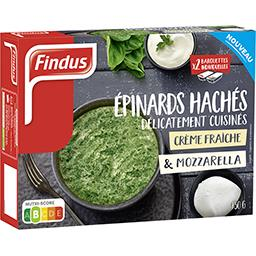 Epinards hachés cuisinés crème fraîche & mozzarella