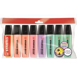 Stabilo Surligneurs Boss Original pastel coloris assortis la pochette de 8 surligneurs - Ecopack