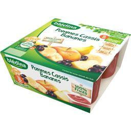 Compote pomme cassis banane, dès 8 mois