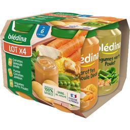 Assortiment légumes dinde jambon poulet, de 6 à 36 m...