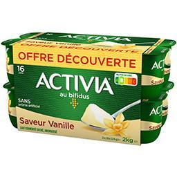 Danone Danone Activia - Lait fermenté au bifidus saveur vanille