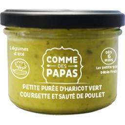 Purée haricot vert courget veau CommeDesPapas - 6mois - 160g