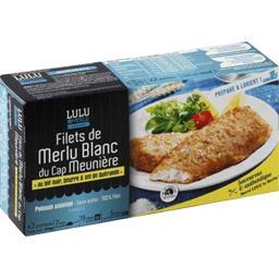 Lulu le Merlu Filets de merlu blanc du Cap meunière la boite de 2 portions - 250 g