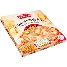 Pizza au feu de bois saumon fumé