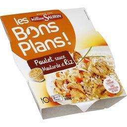 Les Bons Plans - Poulet sauce moutarde et riz
