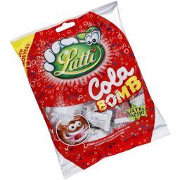 Bonbons goût cola fourrés de poudre acide