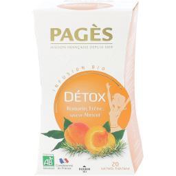 Infusion BIO Détox romarin, abricot