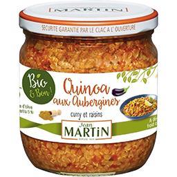 Quinoa aux aubergines curry et raisins BIO