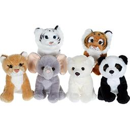 P'tits sauvageons 15 cm peluches assorties