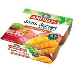 Dessert fruitier pomme mangue sans sucres ajoutés