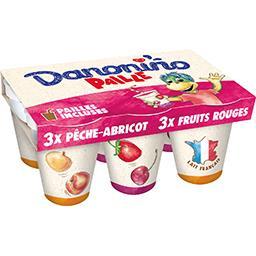Yaourts à boire Danonino aux fruits Paille