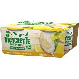 Dessert végétal à bicyclette Citron - 4x100g