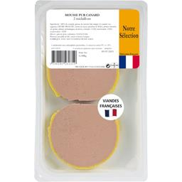 MOUSSE PUR CANARD 2 MEDAILLONS 140G