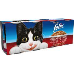 Assortiment d'émincés en gelée pour chats