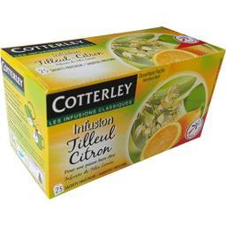 Cotterley Infusion tilleul citron les 25 sachets de 1,4 g