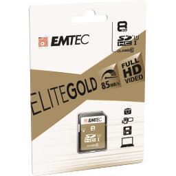 Carte mémoire SDHC 8GB UHS1 U1 EliteGold