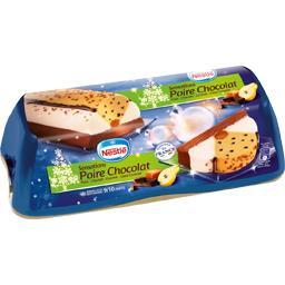 Bûche glacée sensations poire chocolat caramel