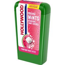 Hollywood Bonbons Mini Mints sans sucres parfum fruit d'été la boite de 12,5 g